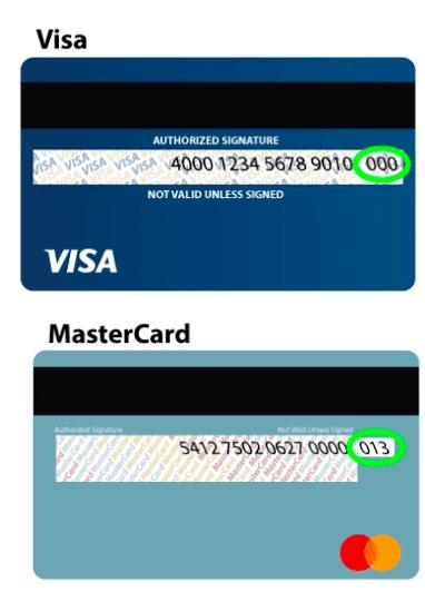 Credit Card CVV Fasttaxi